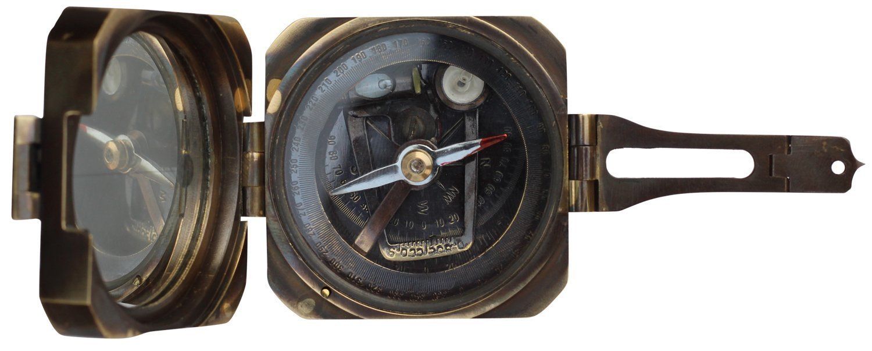 camping-compass/日時計コンパス真鍮Nauticalデバイス – クリノメーターコンパス、プッシュボタン(スピリットレベル) – ヴィンテージLook磁気デバイス B07CTFBKZ9
