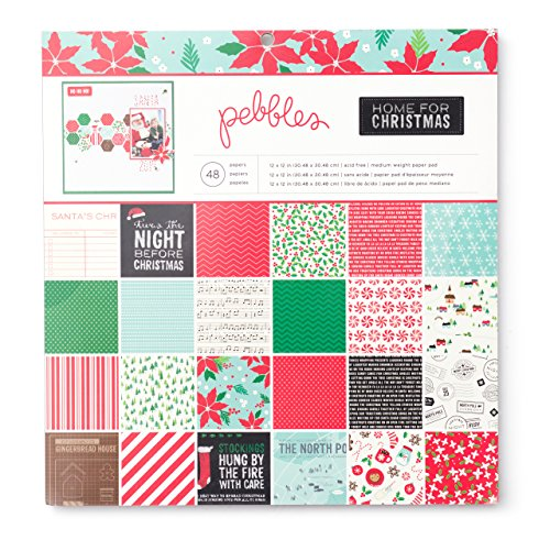 Pebbles Home for Christmas Patterned Paper Pad 12 by 12-Inch