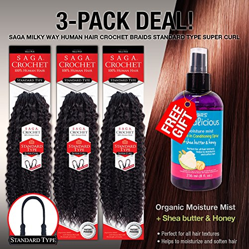 MULTI-PACK DEALS! Saga Human Hair Crochet Braids Standard for sale  Delivered anywhere in USA