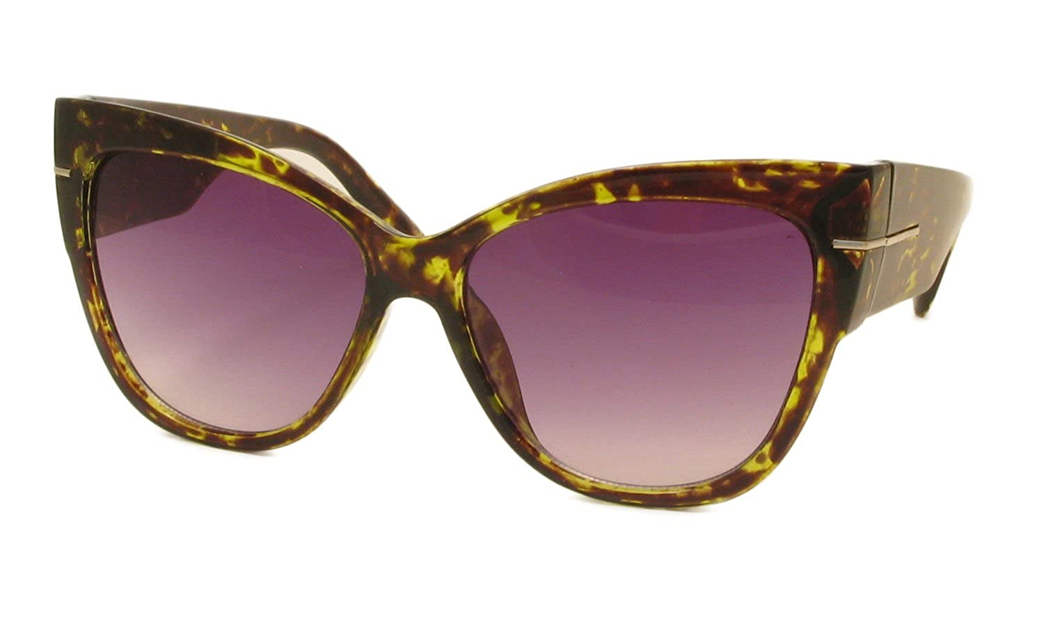 AStyles - Super Oversized Cat Eye Thick Frame Designer Gradient Sunglasses Anoushka