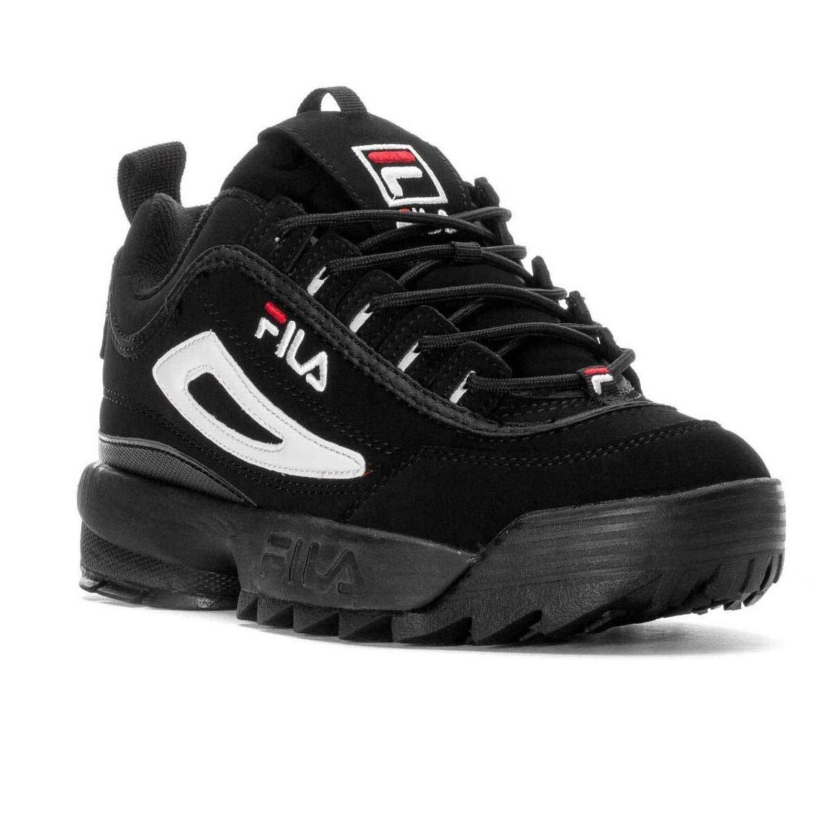 Fila Sneakers Uomo 101049012V Camoscio Nero  Amazon.it  Scarpe e borse 87e76811716
