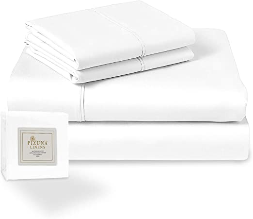 Flat Sheet /& 2 Pillowcases Bed Alter 400 Thread Count Egyptian Cotton Sheet Set Double, Silver 100/% Long Staple Cotton Double Size Sheet Set Fitted Sheet Soft Sateen Sheet Double Size