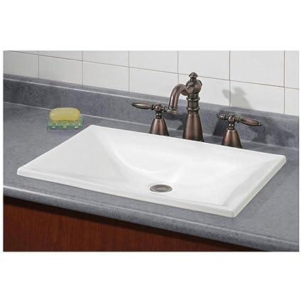 Ordinaire Cheviot Estoril White Drop In Rectangular Bathroom Sink