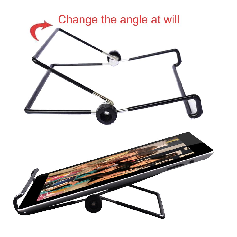 Universal Desktop Multi-angle Non-slip Foldable Metal Stand Adjustable Holder for 9 - 10.1 inch Tablet PC, e-Reader