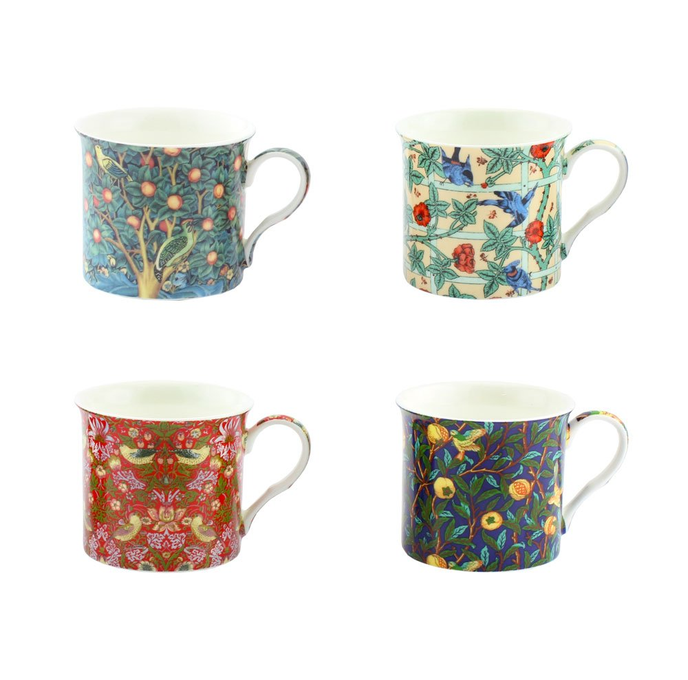 4 Unidades Leonardo Collection Tazas con dise/ño de William Morris