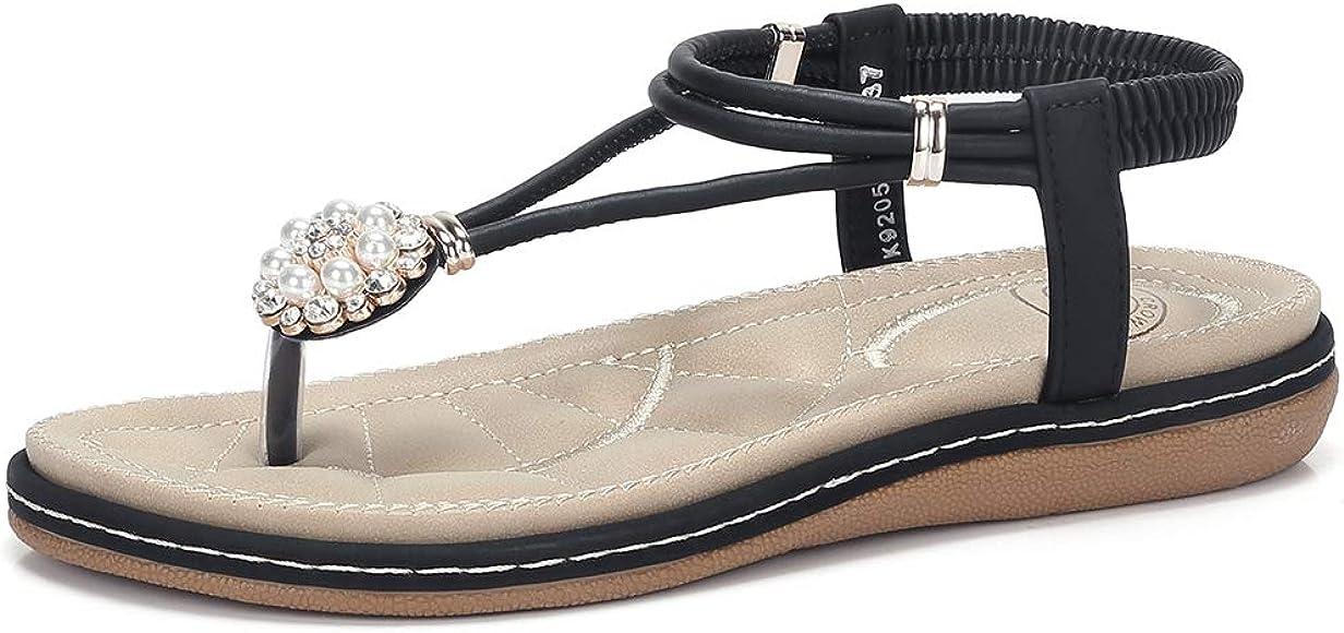 Pearl Buckle Jeweled Slingback Sandals