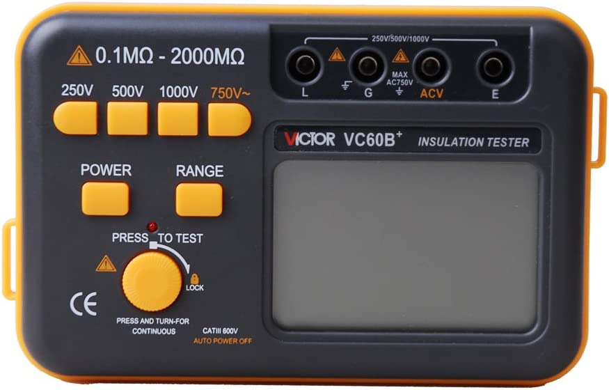 tester digitale di isolamento e resistenza megohmmetero Megohm DCV ACV metro VC60B