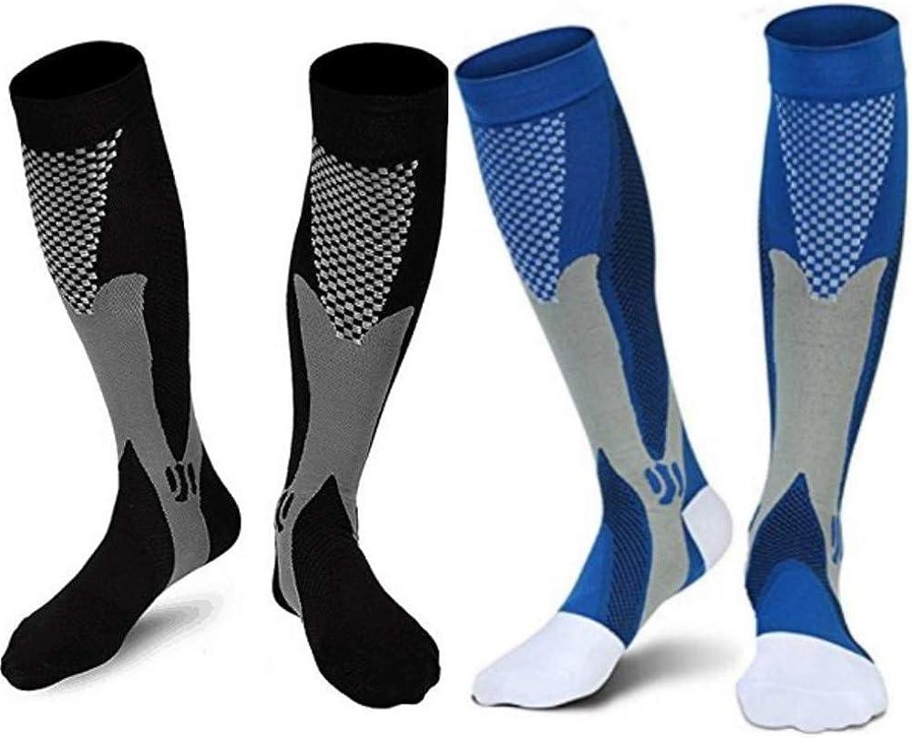 2/4 Pairs Compression Socks, 20-30 mmHg Medical Sport Compression Socks Men Nurse Pregnancy Edema Varicose Veins