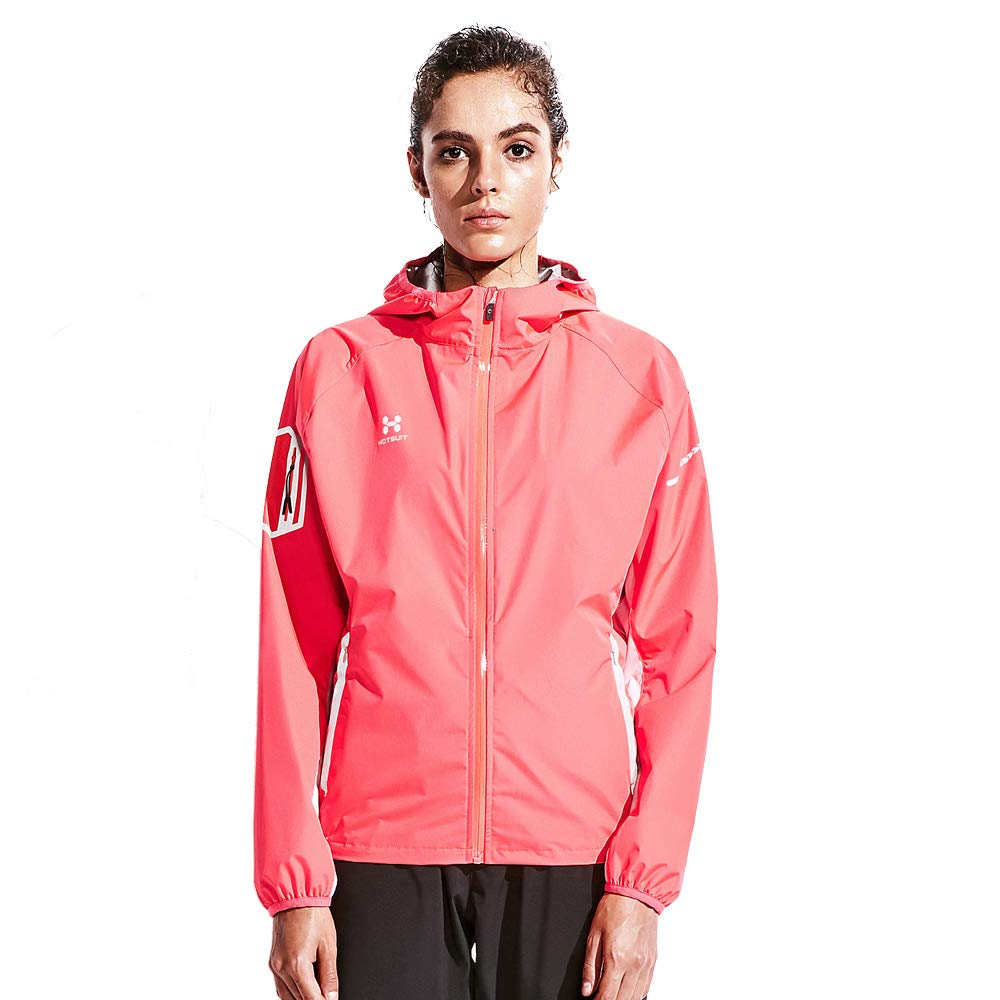 HOTSUIT Sauna Suit for Weight Loss Women's Sauna Jackets Tops(Red, Small)