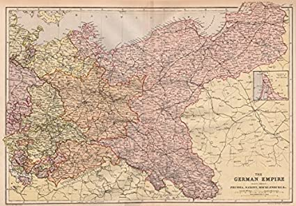 Amazon.com: GERMAN EMPIRE EAST. Prussia Saxony Mecklenburg ... on