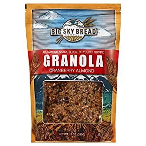 Big Sky Bread All Natural Granola Cranberry Almond, 1 X 12 Oz