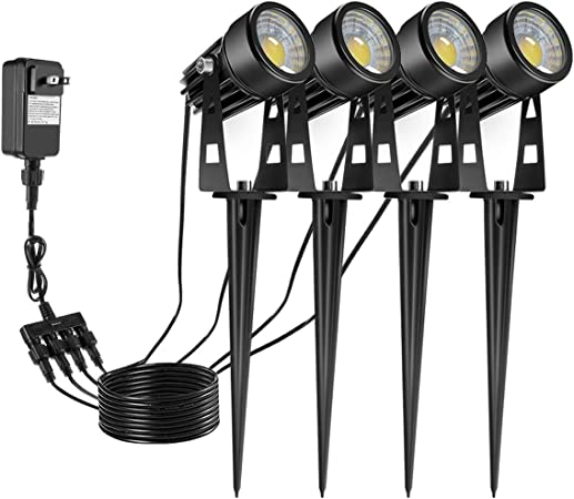 4pcs Garden Spike Lights COB Outdoor Landscape Spotlights LED Garden Lamp IP65