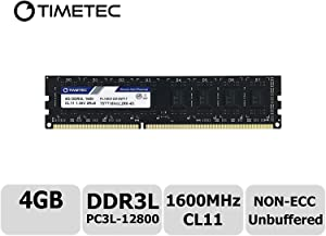 Timetec Hynix IC 4GB DDR3L 1600MHz PC3L-12800 Non ECC Unbuffered 1.35V/1.5V CL11 2Rx8 Dual Rank 240 Pin UDIMM Desktop PC Computer Memory Ram Module Upgrade (Low Density 4GB)
