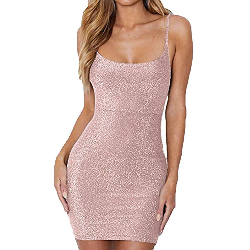 Hochwertige und einzigartige Damenbekleidung, Damenbekleidung, einfarbig, ärmellose Binde, Leibchen, Minikleid, Sommerkleid WUDUBE-Fachgeschäft