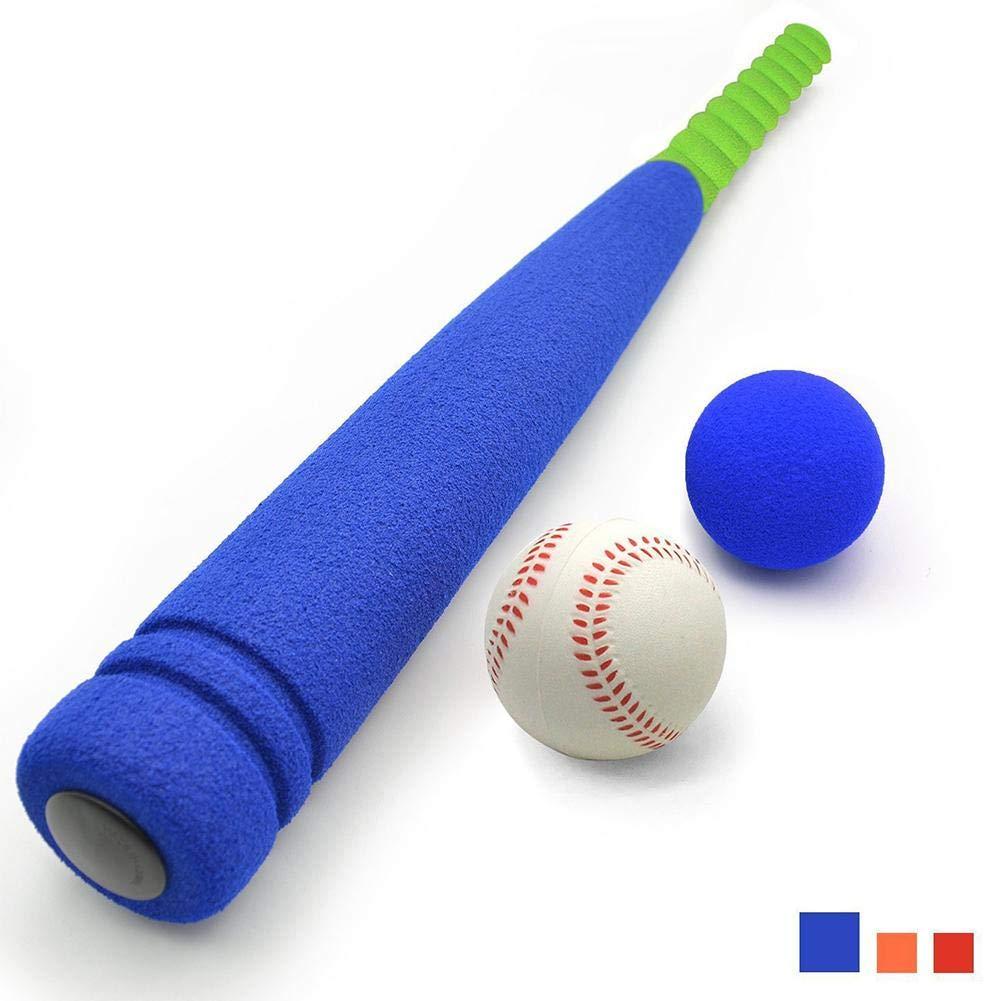 Kinder weichen Schaum T-Ball Baseball Set Spielzeug 8 verschiedene farbige B/älle geh/ören organisieren Tasche f/ür Kinder
