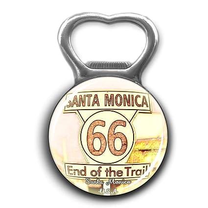 Amazon.com: Santa Monica America USA Bottle Opener Metal ...