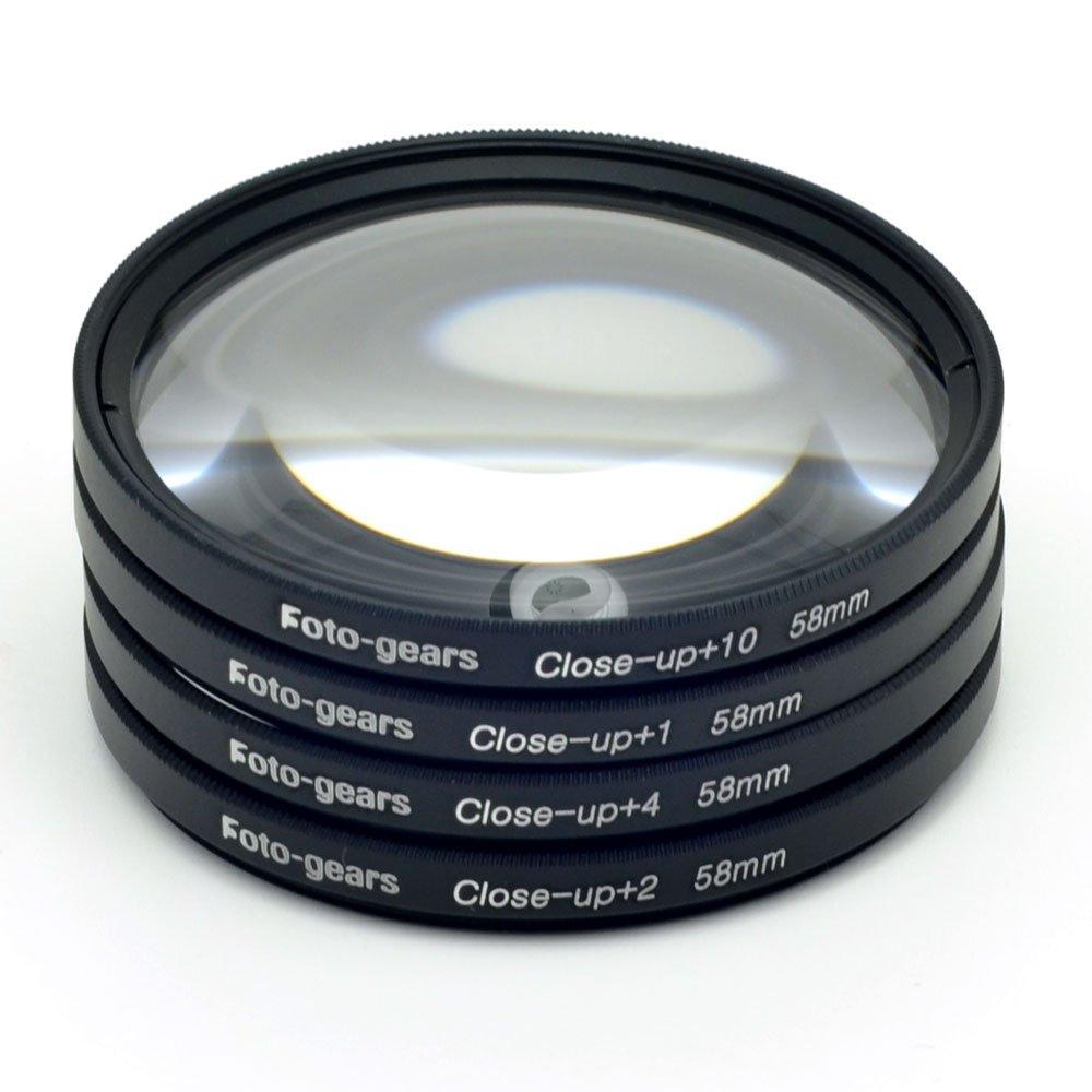 58mm Macro Filter Multi Close up Lens Filter Macro Close up Lens +1 + 2 +4 +10 Kit