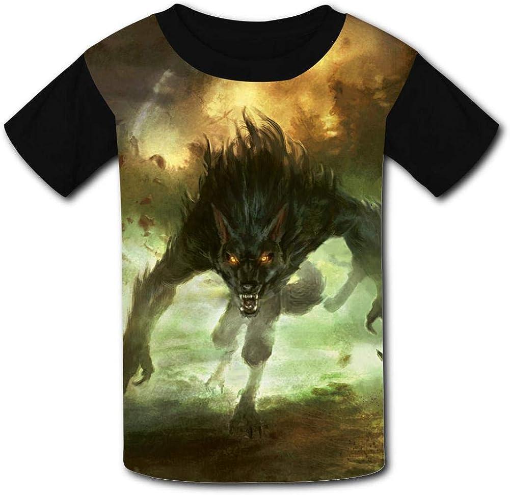 YAsedd Kids Fierce Werewolf O-Neck T Shirts for Fashion Children Boys Girls Tee Shirt