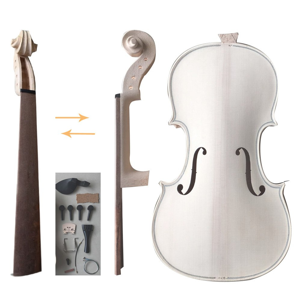 Zimo Make Your Own Violin Full Size 4/4 Natural Acoustic Violin DIY Kit Zimo®