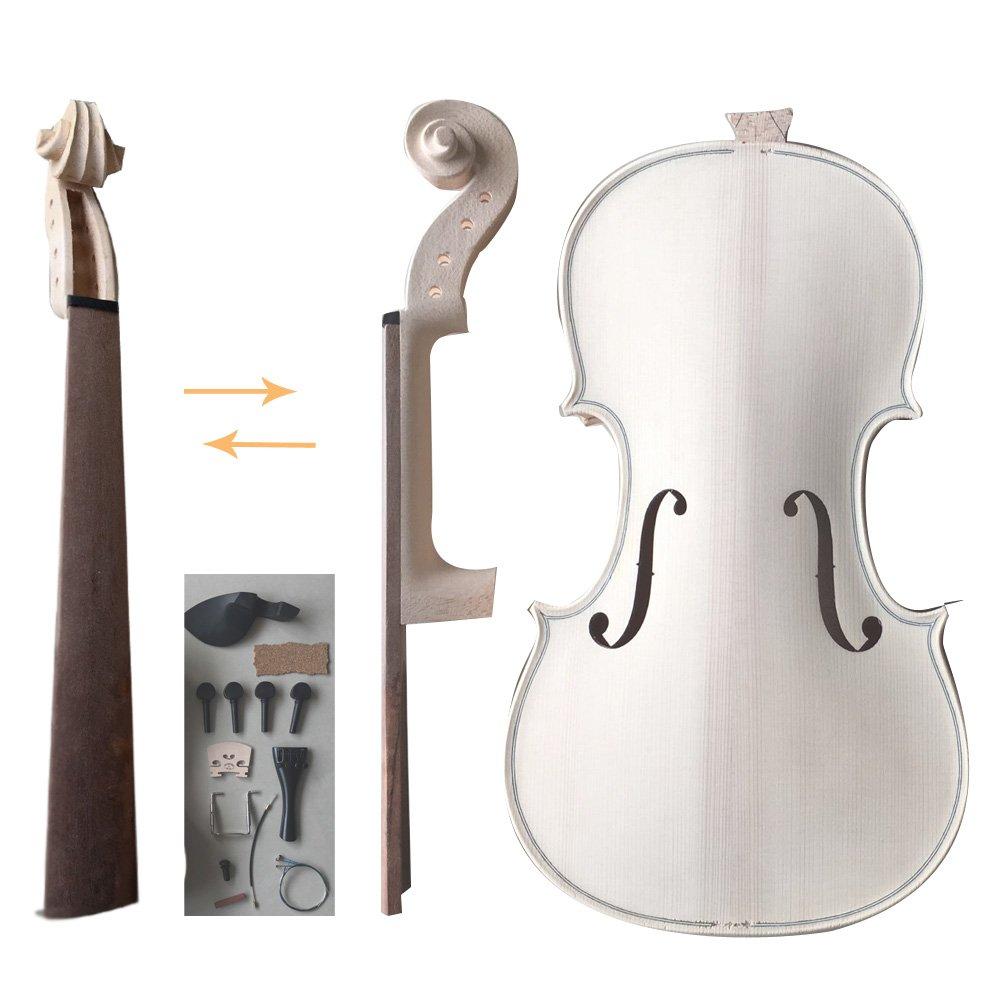 Zimo Make Your Own Violin Full Size 4/4 Natural Acoustic Violin DIY Kit