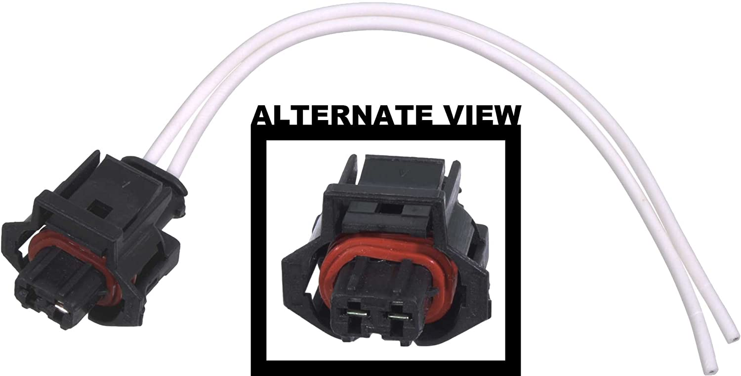 61k ZTc9UEL._SL1500_ amazon com apdty 133821 wiring harness 2 wire pigtail connector 2004 duramax injector wiring harness at creativeand.co