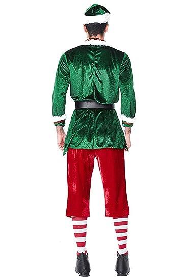 MingoTor Hombre Santa Claus Disfraz Traje árbol de Navidad Cosplay ...