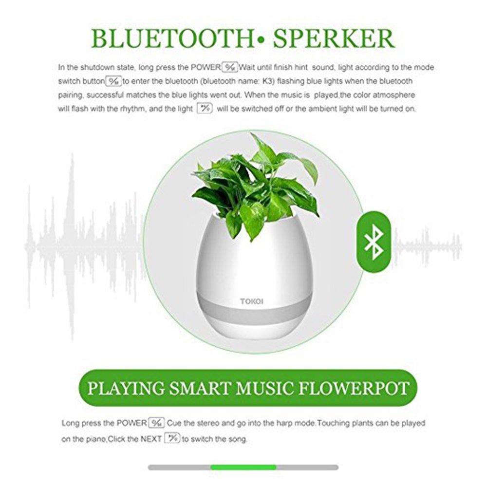 Musik Blume Topf Lautsprecher Smart Wireless Finger Bluetooth Schalter Büro Wohnzimmer Dekoration Home Lautsprecher Schreibtisch Touch Nacht Led Tragbare Lautsprecher Unterhaltungselektronik