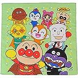 アンパンマン キャラクター ハンカチ 【アンパンマンと仲間たち・グリーン】30×30cm