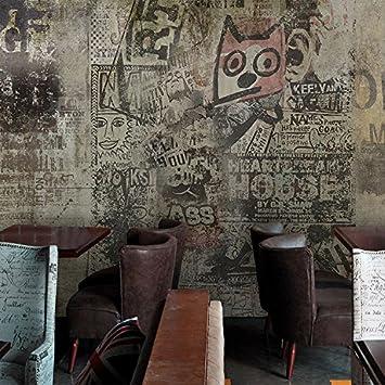 Tianlu Retro Industriel City Papier Peint Papier Peint City Cafe