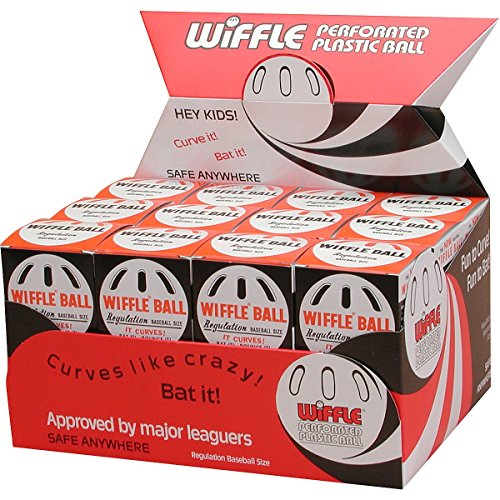 Wiffle Ball Original Brand Baseballs, Regulation Baseball Size, 24 Count (Ball Whiffle)