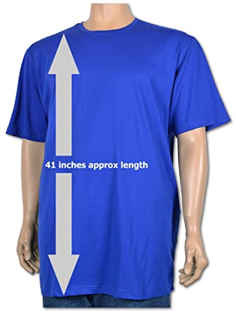 b2ed365e8a4 Big Mens Royal Extra Long Cotton Tall T-Shirt Nightshirt Size M to ...