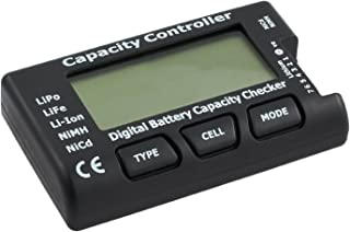 Tanice LCD Digital Battery Capacity Voltage Checker Controller Tester for LiPo LiFe Li-ion NiMH NiCd Battery