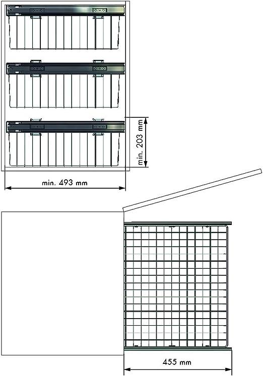 ancho puerta 300mm CESTO DE REJILLA