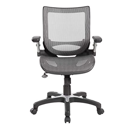 Amazoncom Ergonomic Mid Back Mesh Office Chair With Flip Up Arms