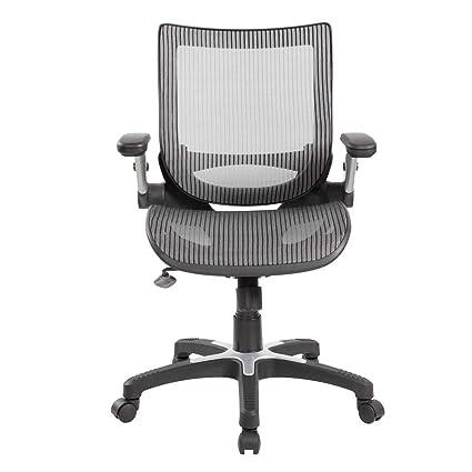 Groovy Amazon Com Anji Modern Furniture 8273Gr Ergonomic Mid Back Theyellowbook Wood Chair Design Ideas Theyellowbookinfo