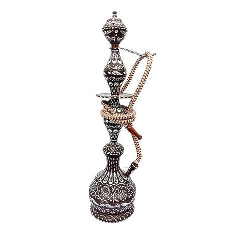 Amazon Com Indian Handicrafts Export 24 Inches Brass Hukka Hookah