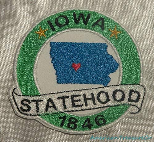 Embroidered Iowa State Pride IA Statehood Souvenir Patch Iron On Sew On USA