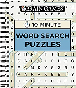 Brain GamesR 10 Minute Word Search Puzzles Editors Of Publications International Ltd 9781680227642 Amazon Books
