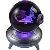 3D Crystal Ball LED Night Light,Base Changes Color Toy Night Light Lamp -20inch New Gifts