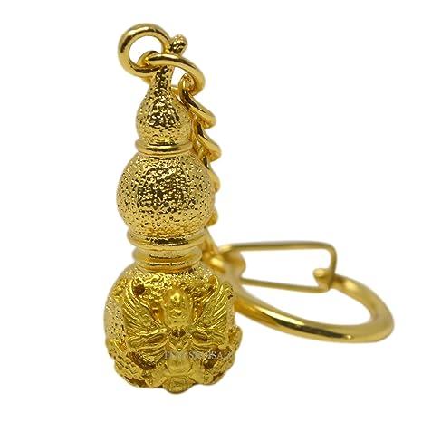 Amazon.com: Fengshui dorado Wu Lu con Garuda llavero w ...