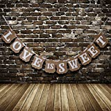 856store Novelty Romantic Love is Sweet Sign Bunting Banner Garland Wedding Engagement Decor