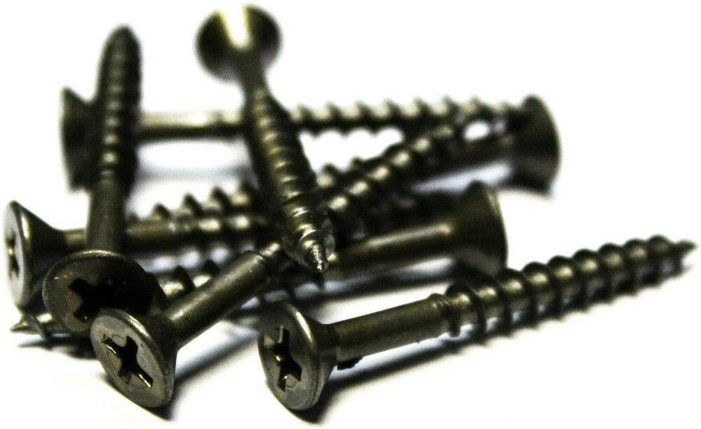 8x1-1//2 Flat Head Wood Screws 3,000 Plain and Lubed The best fasteners
