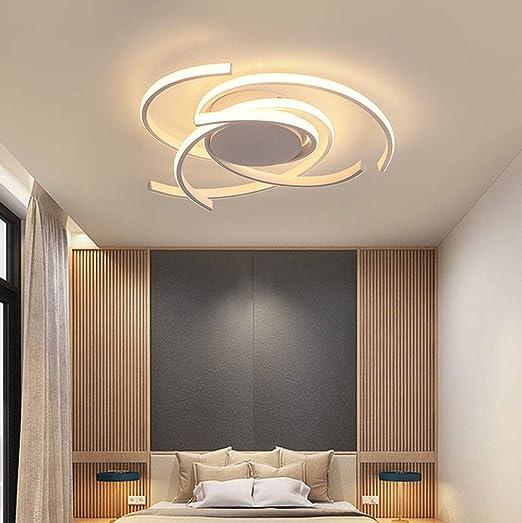 Luz Techo Dormitorios Plafon LED Diseño Lamparas de Techo Modernas Para Comedor Regulable 3000 K-6500 K con Control Remoto Decoracion Salon Modernos ...