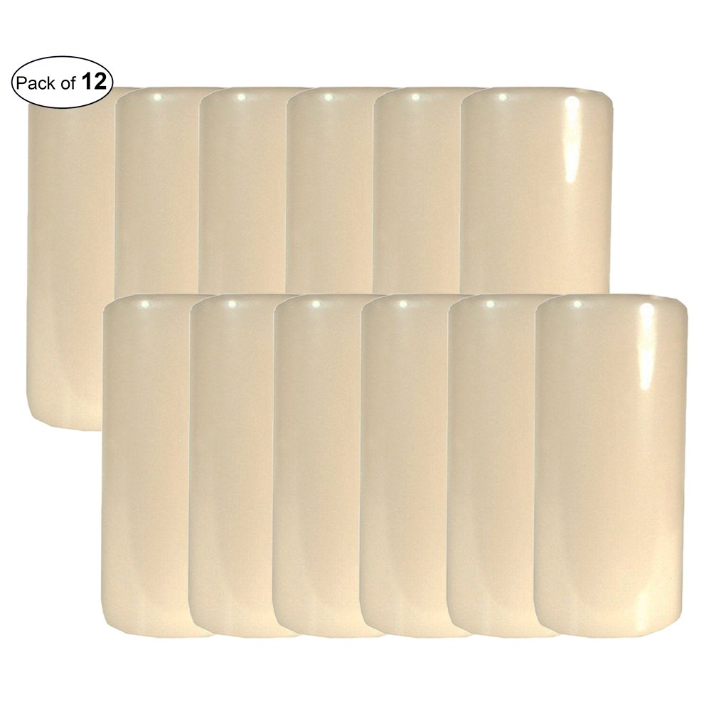 Candle-Lite Pillar Candle Unscented- Ivory(2.8x6) (Pack of 12) by CandleLite ®