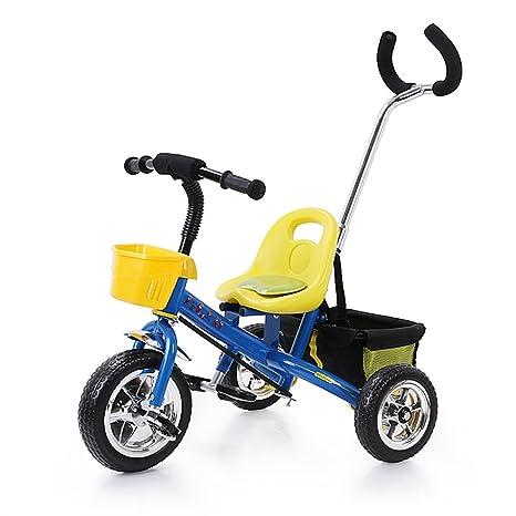 trre- niño bicicleta bicicleta de bebé para carrito de bebé, azul