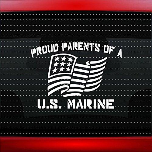 Noizy Graphics Proud Marine Parents #1 Military Sailor Car Sticker Truck Window Vinyl Decal Color: Blue