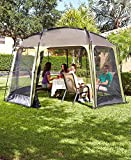 The Lakeside Collection Easy-Up 12′ x 14′ Screen Gazebo