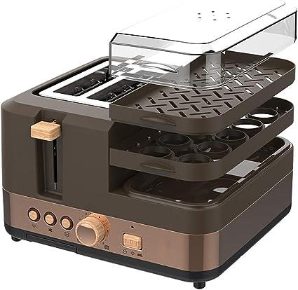 Tres-en-uno tostadora, 3-en-1 Multifunción Desayuno Centro W/Horno Tostador, Plancha y Cafetera: Amazon.es