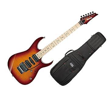 Ibanez rg657msk Prestige 6 cuerdas Guitarra eléctrica w/funda – puesta de sol Burst W