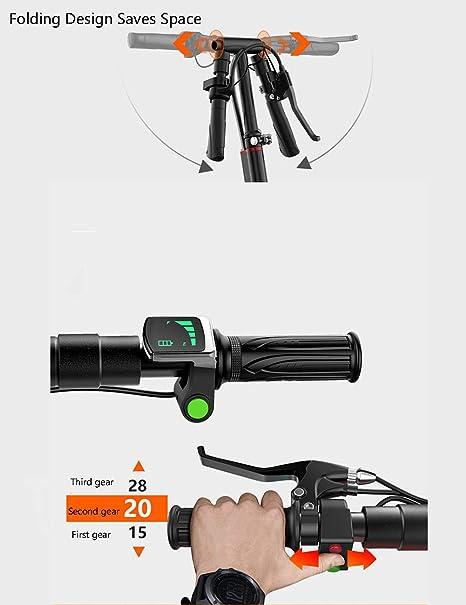 Amazon.com: HBBenz - Patinete eléctrico plegable para ...